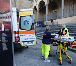 Serveis sanitari a la basília de santa Croce.