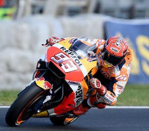 Marc Márquez amb la seua Honda.