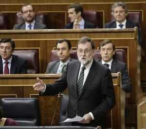 El president del Govern, Mariano Rajoy, al Congrés dels Diputats.