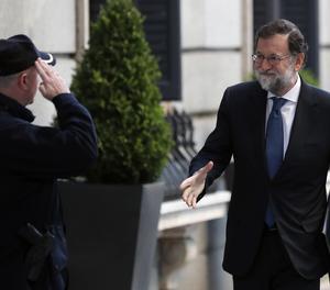 Rajoy, a la seu arribada aquest dimecres al Congrés dels Diputats