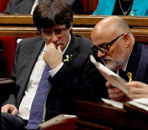 El president de la Generalitat, Carles Puigdemont, i el