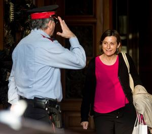 Forcadell, sortint dilluns del Parlament.