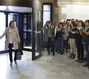 Forcadell arriba al Parlament aquest divendres.