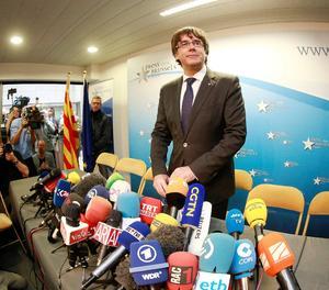 Puigdemont, a Brussel·les el passat dimarts.