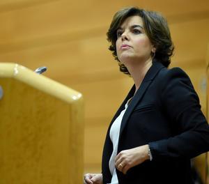 La vicepresidenta del Govern, Soraya Sáenz de Santamaría