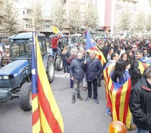 Concentracions i piquets per demanar la posada en llibertat dels exconsellers i els Jordis.