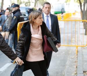 Forcadell, en la seua arribada al Tribunal Suprem.