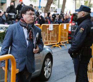 Joan Josep Nuet arribant aquest matí al Tribunal Suprem.