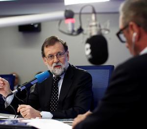 Mariano Rajoy durant l'entrevista d'aquest dimarts a la COPE.