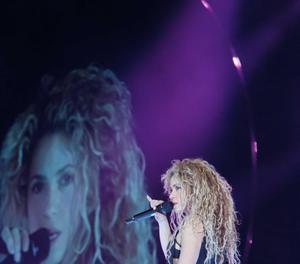 Shakira, en un dels assajos previs a l'inici de la gira europea.