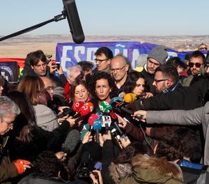 L'acte d'ERC aquest dimarts davant de la presó d'Estremera.