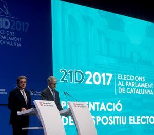 La presentació del dispositiu de les eleccions ha anat a càrrec de delegat del Govern Espanyol, Enric Millo, responsable de la Generalitat arran de l'aplicació de l'article 155 i el cessament del govern de la Generalitat.