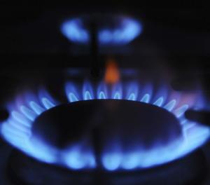 Un cremador de gas de cuina.