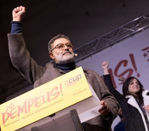 El cap de llista de la CUP, Carles Riera