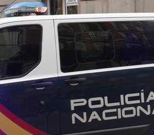 El vehicle policial que ha transportat Junqueras des dels calabossos de l'Audiència Nacional fins al Suprem.