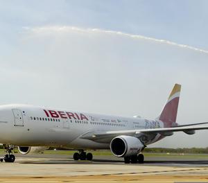 Un avió d'Iberia,.