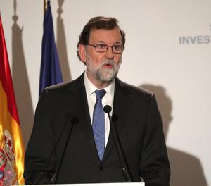 El president del Govern, Mariano Rajoy, durant la seua intervenvió en la inauguració de l'Spain Investors Day.