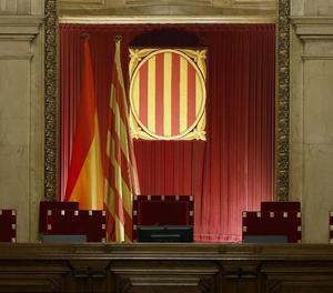 Vista de l'hemicicle del Parlament de Catalunya.