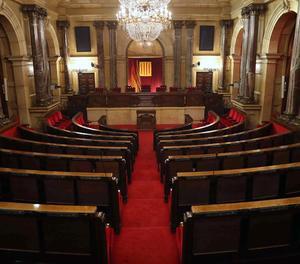 Una vista de l'hemicicle del Parlament