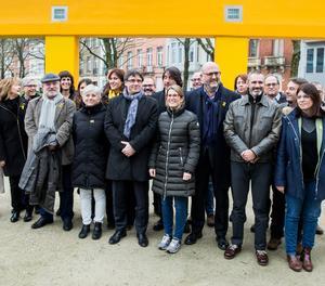 Una vintena de diputats de Junts per Catalunya s'han reunit amb Puigdemont aquest divendres a Brussel·les.