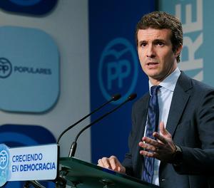 El vicesecretari de Comunicació del PP, Pablo Casado.