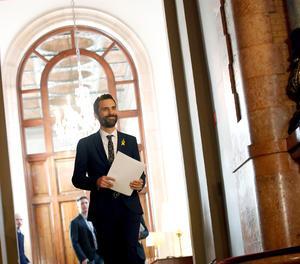 Roger Torrent, el nou president del Parlament.