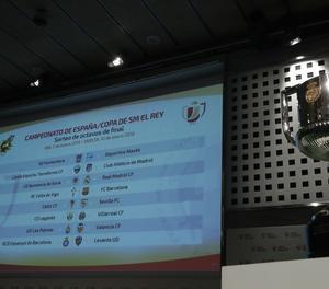 Els encreuament de les semifinals de la Copa del Rey.