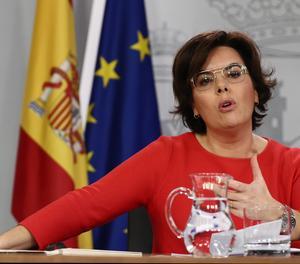 La vicepresidenta del Govern, Soraya Sáenz de Santamaría.