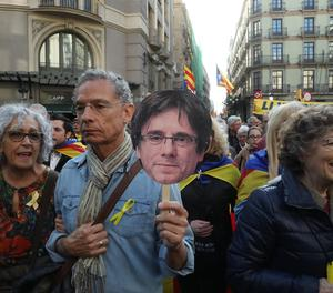 Alguns participants en la manifestació.