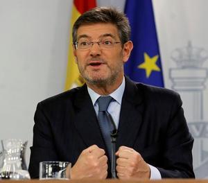 El ministre de Justícia, Rafael Catalá, en roda de premsa.