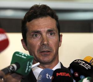 Guillermo Amor, director de relacions institucionals del Barcelona, després de la reunió a la RFEF.