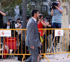 Josep Lluís Trapero surt de l'Audiència Nacional, en una imatge d'arxiu.