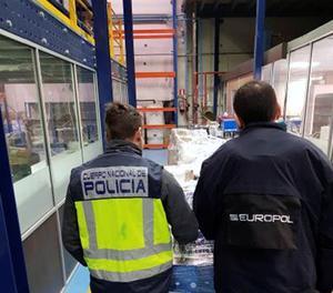 Fotografia de la operació facilitada per la Policia Nacional