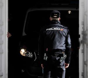 El furgó en què anava Jordi Sànchez entra al Tribunal Suprem-