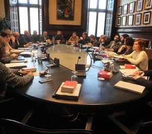 La reunió de la junta de portaveus.