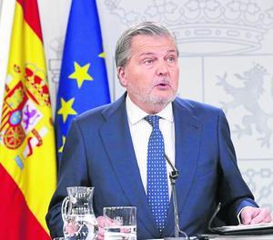 Íñigo Méndez de Vigo, a la roda de premsa d'ahir.