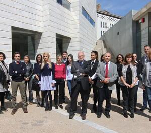 La concentració de jutges i fiscals a l'edifici judicial de Lleida.