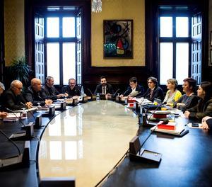 La reunió de la Mesa del Parlament