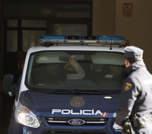 Un furgó de la policia entra aquest dilluns al Tribunal Suprem.