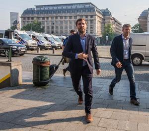 L'exconseller Toni Comín, aquest dimecres abans de declarar davant del jutge belga.