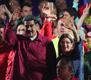 Nicolás Madura després de conèixer els resultats de les eleccions,
