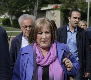 Ramona Barrufet arriba aquest matí als jutjats de Lleida, des d'on ha declarat per videoconferència davant del jutge del Suprem.