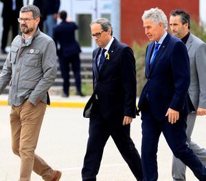 Torra surt de la presó d'Estremera després de visitar els exconsellers Oriol Junqueras, Jordi Turull, Joaquim Forn, Josep Rull i Raul Romeva.