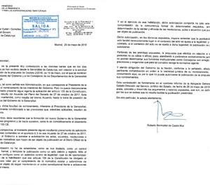 Madrid ratifica que no publicarà el nomenament de consellers de Torra