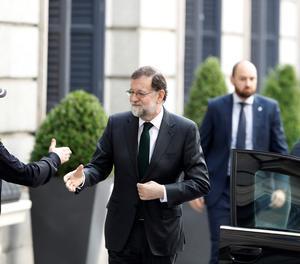 Mariano Rajoy arriba al Congrés