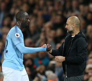 Yayá Touré i Pep Guardiola