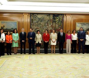 Els 17 ministres del Govern de Sánchez prometen els seus càrrecs davant de Felip VI