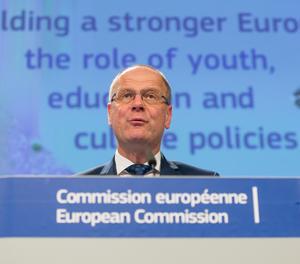 El comisario europeo de Educación, Cultura, Juventud y Deporte de la Unión Europea (UE), Tibor Navracsics