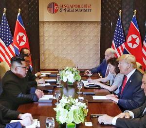 Trump i Kim firmen una declaració conjunta després de la seua històrica cimera