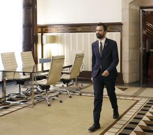 El president del Parlament, Roger Torrent, en una imatge d'arxiu.